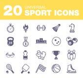 οι φορείς εικονιδίων ποδοσφαίρου σφαιρών σκιαγραφούν τον αθλητισμό δύο Στοκ Εικόνες