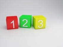 Οι φραγμοί 123 αριθμοί, τρισδιάστατοι δίνουν Στοκ φωτογραφία με δικαίωμα ελεύθερης χρήσης