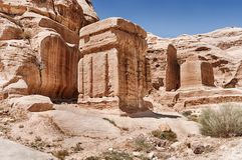 Οι φραγμοί Θεών της Petra στοκ εικόνες