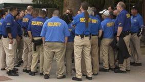 Οι φρουρές ασφάλειας διοργανώνουν τη συνεδρίαση των ομάδων Στοκ Φωτογραφία