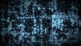 Οι φωτεινοί μπλε αριθμοί υπολογιστών πυράκτωσης εμφανίζονται στο πλέγμα ρευμάτων στοιχείων τεχνολογίας ελεύθερη απεικόνιση δικαιώματος