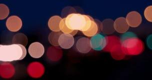 Οι φωτεινοί σηματοδότες Θολωμένοι φωτεινοί σηματοδότες μέσα απόθεμα βίντεο