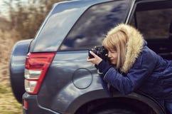 Οι φωτογραφίες κοριτσιών Στοκ Εικόνες