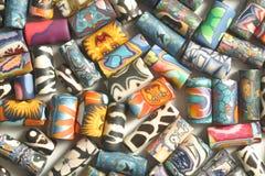 οι χάντρες χρωμάτισαν πολ&up Στοκ φωτογραφία με δικαίωμα ελεύθερης χρήσης
