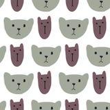 Οι χαριτωμένες γάτες διευθύνουν το άνευ ραφής σχέδιο Στοκ εικόνα με δικαίωμα ελεύθερης χρήσης