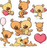 Οι χαριτωμένοι βαλεντίνοι teddy αντέχουν - διάνυσμα διανυσματική απεικόνιση