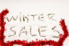 Οι χειμερινές πωλήσεις γραψίματος Στοκ φωτογραφίες με δικαίωμα ελεύθερης χρήσης