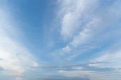 Οι χειμερινοί άνεμοι ουρανού σκούπισαν σαφή Στοκ Εικόνα