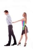 οι χορευτές ενέργειας απομόνωσαν το λατίνο λευκό Στοκ Φωτογραφία