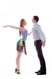 οι χορευτές ενέργειας απομόνωσαν το λατίνο λευκό Στοκ Φωτογραφίες