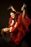 οι χορευτές ταλαντεύον&ta Στοκ Φωτογραφία