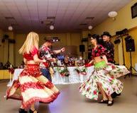 Οι χορευτές τσιγγάνων συνδέουν από τη Ρουμανία στοκ εικόνες με δικαίωμα ελεύθερης χρήσης