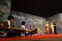Οι χορευτές Apsara στην απόδοση, Siem συγκεντρώνουν, Καμπότζη Στοκ φωτογραφία με δικαίωμα ελεύθερης χρήσης