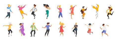 Οι χορεύοντας άνθρωποι σκιαγραφούν ελεύθερη απεικόνιση δικαιώματος