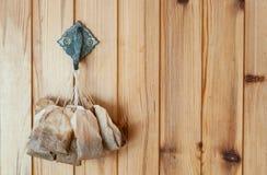 Οι χρησιμοποιημένες τσάντες τσαγιού είναι ξηρές Στοκ εικόνες με δικαίωμα ελεύθερης χρήσης