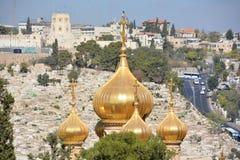 Οι χρυσοί θόλοι της εκκλησίας αφιερώνονται στη Mary Magdalene στοκ εικόνες με δικαίωμα ελεύθερης χρήσης