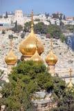 Οι χρυσοί θόλοι της εκκλησίας αφιερώνονται στη Mary Magdalene στοκ εικόνες