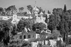 Οι χρυσοί θόλοι της εκκλησίας αφιερώνονται στη Mary Magdalene στοκ εικόνα με δικαίωμα ελεύθερης χρήσης