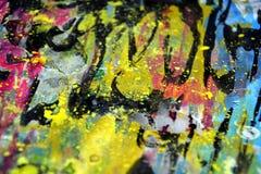 Οι χρυσοί σκοτεινοί κίτρινοι χρυσοί ρόδινοι παφλασμοί, ζωηρόχρωμα ζωηρά κέρινα χρώματα, αντιπαραβάλλουν το δημιουργικό υπόβαθρο Στοκ Φωτογραφία