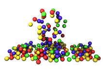 Οι χρωματισμένες σφαίρες τρισδιάστατες δίνουν Ελεύθερη απεικόνιση δικαιώματος