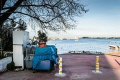 Οι ψαράδες προφυλάσσουν στην παλαιά μαρίνα - Τουρκία Στοκ φωτογραφία με δικαίωμα ελεύθερης χρήσης