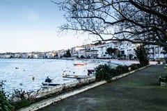 Οι ψαράδες προφυλάσσουν στην παλαιά μαρίνα - Τουρκία Στοκ Εικόνα