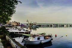 Οι ψαράδες προφυλάσσουν την παλαιά φωτογραφία - Τουρκία Στοκ Φωτογραφία