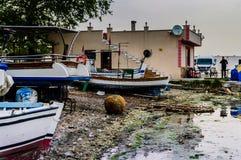 Οι ψαράδες προφυλάσσουν την παλαιά φωτογραφία - Τουρκία Στοκ Φωτογραφίες