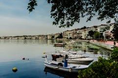 Οι ψαράδες προφυλάσσουν την παλαιά φωτογραφία - Τουρκία Στοκ Εικόνες