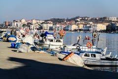 Οι ψαράδες προφυλάσσουν το χειμώνα - Τουρκία Στοκ Φωτογραφίες