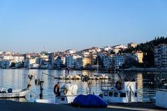 Οι ψαράδες προφυλάσσουν το χειμώνα - Τουρκία Στοκ Εικόνα