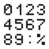Οι ψηφιακοί αριθμοί υπολογιστών, τελικός πίνακας οδήγησαν την πηγή, ο Μαύρος που απομονώθηκε στο άσπρο υπόβαθρο, διανυσματική απε ελεύθερη απεικόνιση δικαιώματος