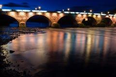 Οι όμορφες γέφυρες στους λόφους της Σκωτίας στοκ φωτογραφία