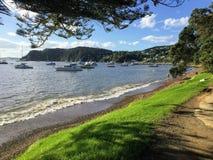 Οι όμορφες παραλίες Russel, Νέα Ζηλανδία στο βόρειο νησί στοκ εικόνα με δικαίωμα ελεύθερης χρήσης