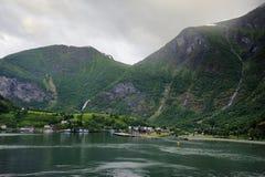 Οι λόφοι του φιορδ Flaam Στοκ εικόνα με δικαίωμα ελεύθερης χρήσης