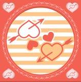 Οι δύο καρδιές Διανυσματική απεικόνιση