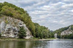 Οι δύσκολες ακτές του Δούναβη Στοκ φωτογραφία με δικαίωμα ελεύθερης χρήσης