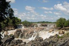 Οι Mekong πτώσεις Στοκ Εικόνες
