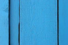 Οι Shabby ξύλινες σανίδες χρωμάτισαν την μπλε κινηματογράφηση σε πρώτο πλάνο χρωμάτων ως σύσταση Στοκ φωτογραφίες με δικαίωμα ελεύθερης χρήσης