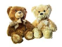 Οι teddy αρκούδες βελούδου είναι απομονωμένες στο άσπρο υπόβαθρο Στοκ εικόνα με δικαίωμα ελεύθερης χρήσης