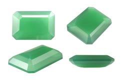 Οκτάγωνο πράσινο Chalcedony Στοκ Φωτογραφίες