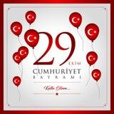 29 Οκτωβρίου εθνική ημέρα Δημοκρατίας της Τουρκίας Στοκ εικόνα με δικαίωμα ελεύθερης χρήσης