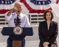 13 ΟΚΤΩΒΡΊΟΥ 2016: Εκστρατείες αντιπροέδρου Joe Biden για το δημοκρατικό U της Νεβάδας S Υποψήφιος Catherine Cortez Masto Συγκλήτ Στοκ Εικόνες