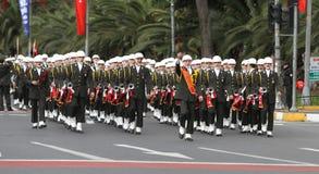 29 Οκτωβρίου εορτασμός ημέρας Δημοκρατίας της Τουρκίας Στοκ Εικόνα