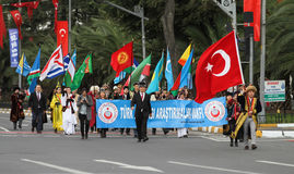 29 Οκτωβρίου εορτασμός ημέρας Δημοκρατίας της Τουρκίας Στοκ Φωτογραφίες