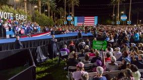 12 Οκτωβρίου 2016, δημοκρατικές προεδρικές εκστρατείες της Χίλαρι Κλίντον υποψηφίων στο κέντρο Smith για τις τέχνες, Λας Βέγκας,  Στοκ εικόνα με δικαίωμα ελεύθερης χρήσης