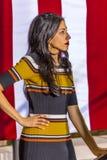 12 Οκτωβρίου 2016, δημοκρατικό προεδρικό Huma Abedin προσέχει την εκστρατεία της Χίλαρι Κλίντον υποψηφίων στο κέντρο Smith για τι Στοκ Εικόνα