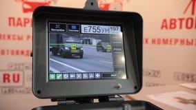 17 Οκτωβρίου 2018, Kazan, Ρωσία - καταγραφή από μια οδική κάμερα απόθεμα βίντεο