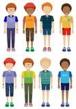Οκτώ απρόσωπα παιδιά Στοκ εικόνα με δικαίωμα ελεύθερης χρήσης