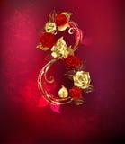 Οκτώ από τα τριαντάφυλλα ελεύθερη απεικόνιση δικαιώματος